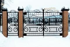 Сварной забор с ковкой и калиткой Импекс