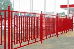 Металлический забор для станции Юта