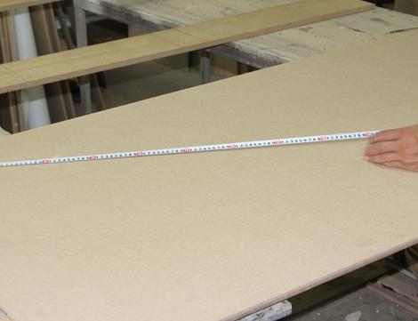 1. Панель мдф вырезается в размер